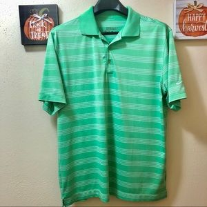 Nike Dri Fit Neon Green Polo Shirt